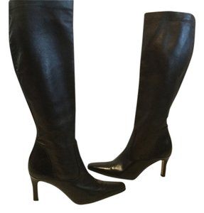 Cole Haan Italian Leather Stretch Brown Boots
