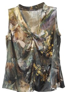 Elie Tahari Silk Top Green