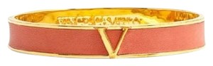 Vince Camuto Vince Camuto Iconic Leather Color Bangle Bracelet, Orange Suede / Gold New
