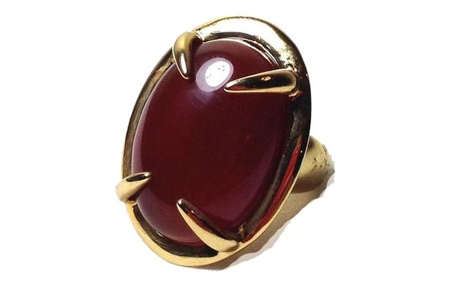 Item - Amber Stone Cocktail Gold Size 7 New Ring