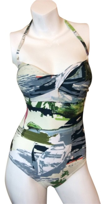 Item - Multicolor One-piece Bathing Suit Size 4 (S)
