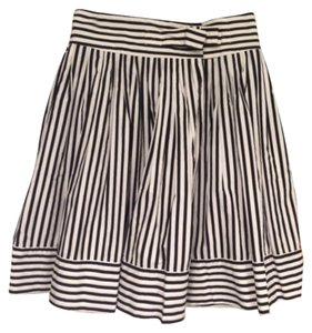Diane von Furstenberg Skirt Black and white stripe