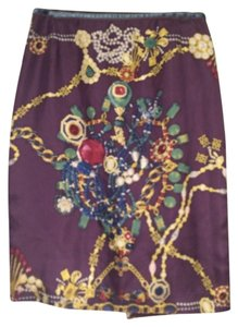 RIANI Skirt Purple, gold, blue