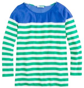 J.Crew Top Blue/white/green