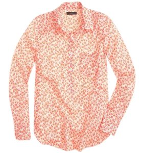 J.Crew Button Down Shirt Bright Persimmon
