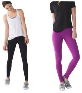 Lululemon New With Tags Lululemon Wunder Under Pants Black And Ultra violet Reversible Size 4