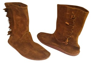Suede Fringe Boot Bootie Camel Boots
