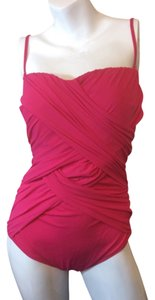 Gottex Gottex pink ruched one piece