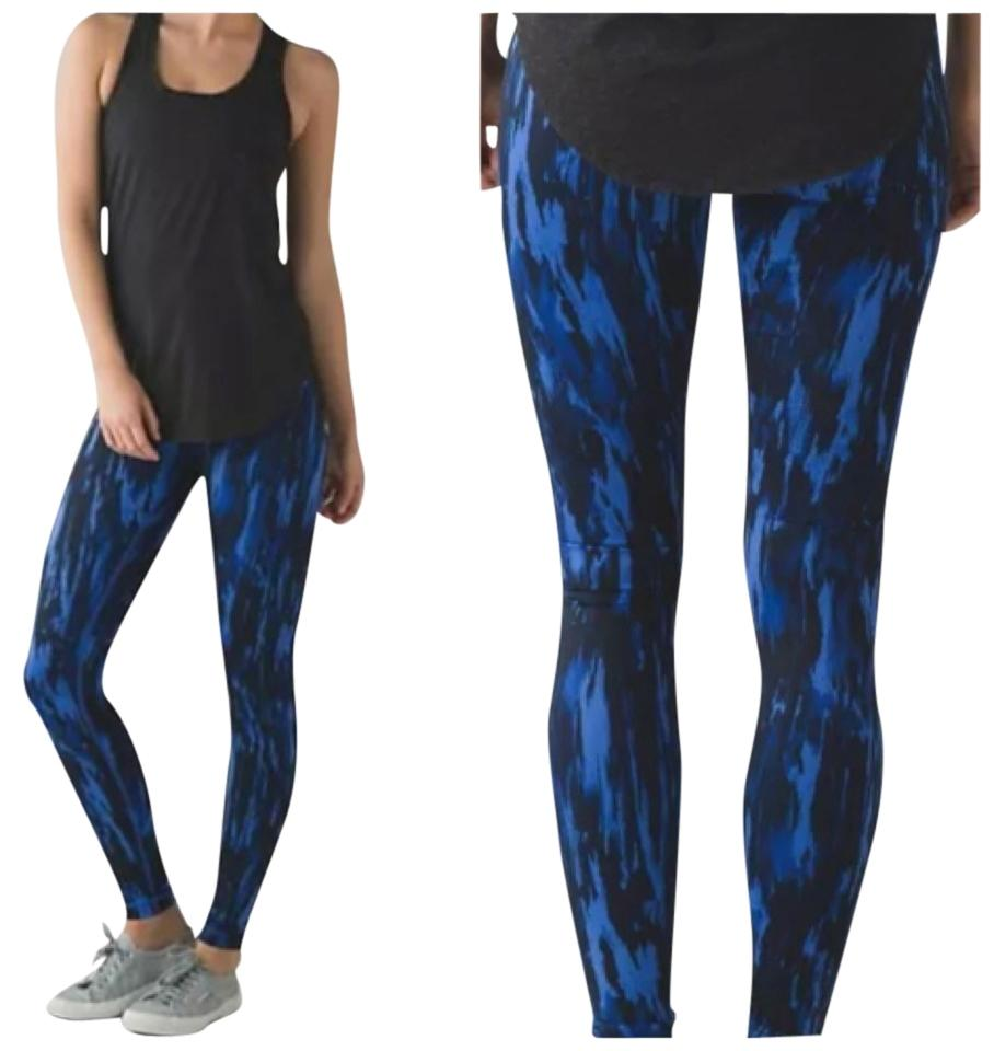 3b9c1df21d Lululemon Blue and Black New with Tags Wunder Under Pants Pask Activewear  Bottoms Size 6 (S, 28) 51% off retail