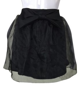 Bow Tulle Tutu Skirt Black