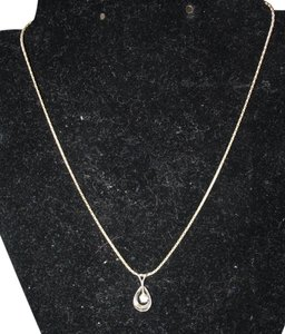 VINTAGE 14K VINTAGE 14K MARKED DIAMOND DROP with 14K STURDY CHAIN