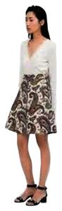 Zara paisley skirt never worn Mini Skirt Cream with multi