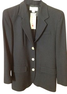 Liz Claiborne Like New Pockets Still Sewn Navy with brass buttons Blazer