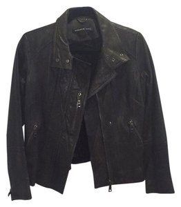 Andrew Marc Dark Green Leather Jacket