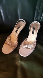 Beverly Feldman I Love Diamonds! Beverly Feldman Silver Heels Silver Rhinestones Too Much Is Not Enough Wedding Shoes