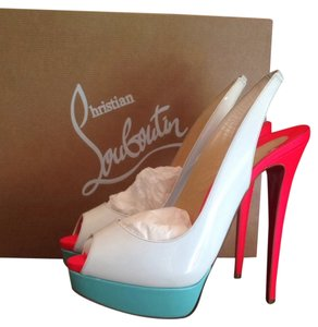 Christian Louboutin Lady Peed Red Bottoms Sandal Multi Platforms