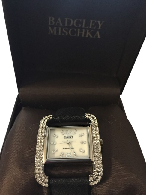 Item - Black Crystal Watch with Leather Band