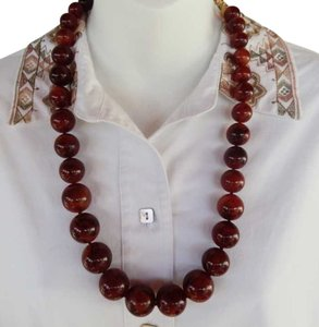 Joan Rivers Joan Rivers Chunky Lucite Amber Bead Necklace
