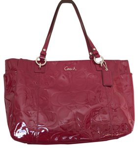 Coach Tote in Crimson Red