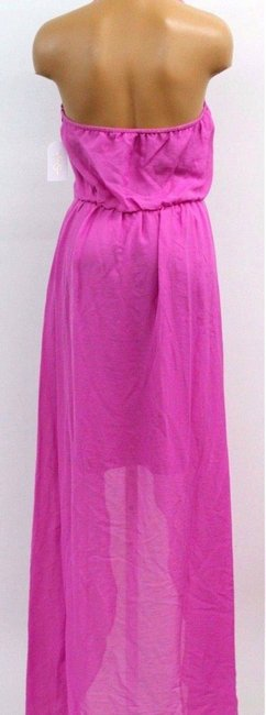Fushia (Hot Pink) Maxi Dress by Jessica Simpson Halter