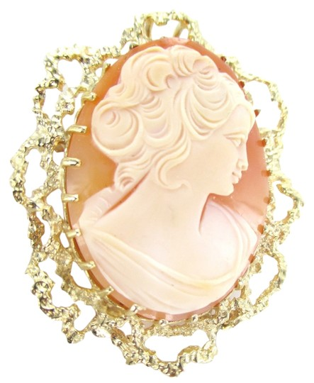 Preload https://item1.tradesy.com/images/no-brand-14kt-solid-yellow-gold-lady-cameo-pendant-pin-brooch-1118380-0-0.jpg?width=440&height=440