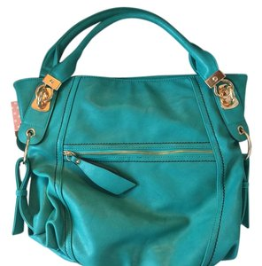 Melie Bianco Leather Blue Hobo Bag