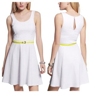 Express short dress White Machine Washable Date Night on Tradesy