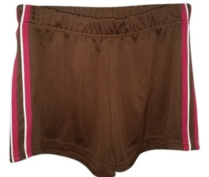 SJB Performance SJB Performance multi-sport athletic shorts brown with/pink-white stripes