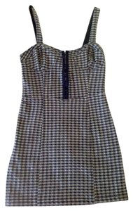 Free People short dress Indigo Gingham Plaid Spring Summer on Tradesy