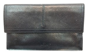 DIMOPEL DIMOPEL BLACK CAVIAR LEATHER TRI FOLD WALLET