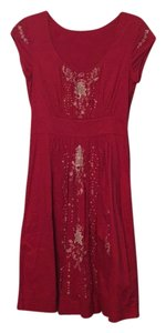 Anthropologie short dress Red on Tradesy