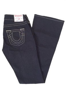 True Religion Denim But Long Boot Cut Jeans-Dark Rinse