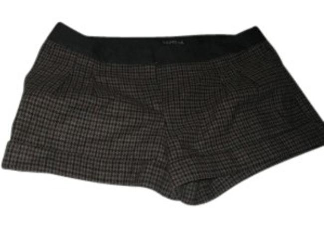 Item - Brown Pleated Front Hound's Tooth Print Shorts Size 6 (S, 28)