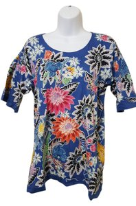 Handloom Batik T Shirt Blue Multi