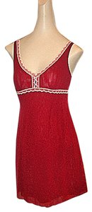 Cosabella short dress Wine/Rouge Red #italian #imported #cosabella #nwt #valentines #valentinesdaygift #gift #sexy #thongavailable #redchemise Redgift #tulle on Tradesy