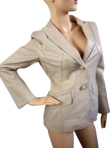 Pamela McCoy light Camel Leather Jacket