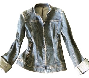 Elie Tahari Denim Womens Jean Jacket