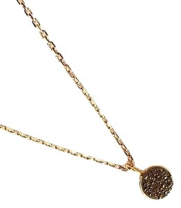 Independent Clothing Co. Small Bronze Druzy Charm Necklace