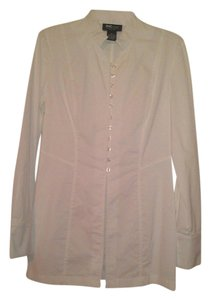 INC International Concepts Button Down Shirt White