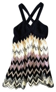 M Missoni Classic Pattern Top Black with Multi-Color