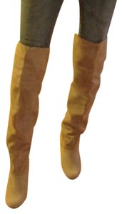 Kimchi Blue Suede Thigh High 70's sand/buff Boots