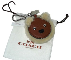 Coach Coach Shearling Leather Bear Motif Key Ring Handbag FOB, 64749 $50