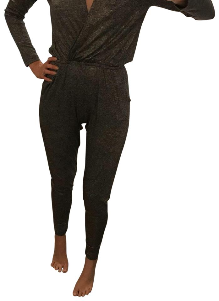 11bfea980bc4 Nightcap Gray with Gold Shimmer Romper Jumpsuit - Tradesy