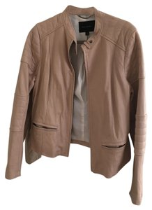 Banana Republic Soft Leather Cream Leather Jacket