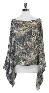 Rachel Zoe Grey & Cream Print Silk Cover Up