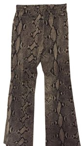 Gucci Wide Leg Pants Snakeskin