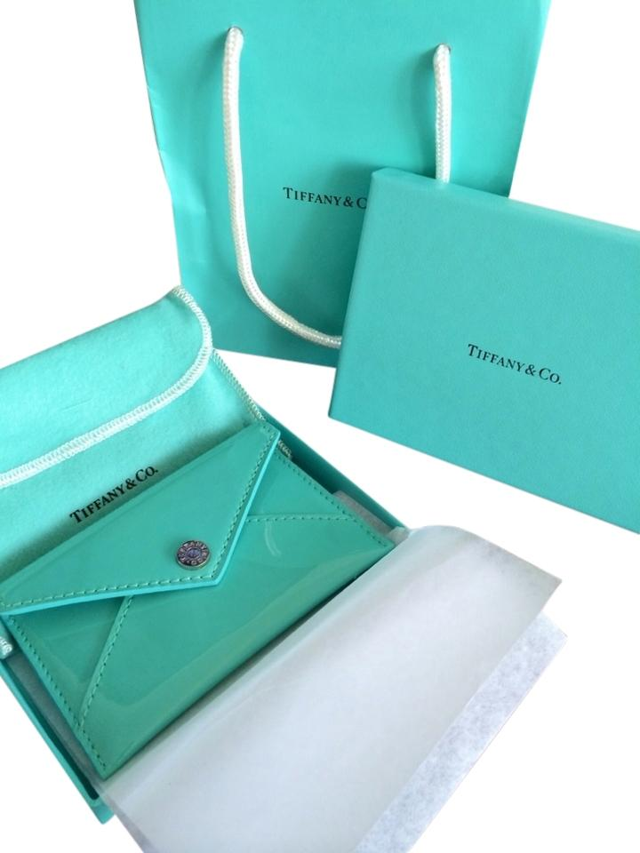 Tiffany & Co. Blue Co Leather Id Business Credit Card Holder ...