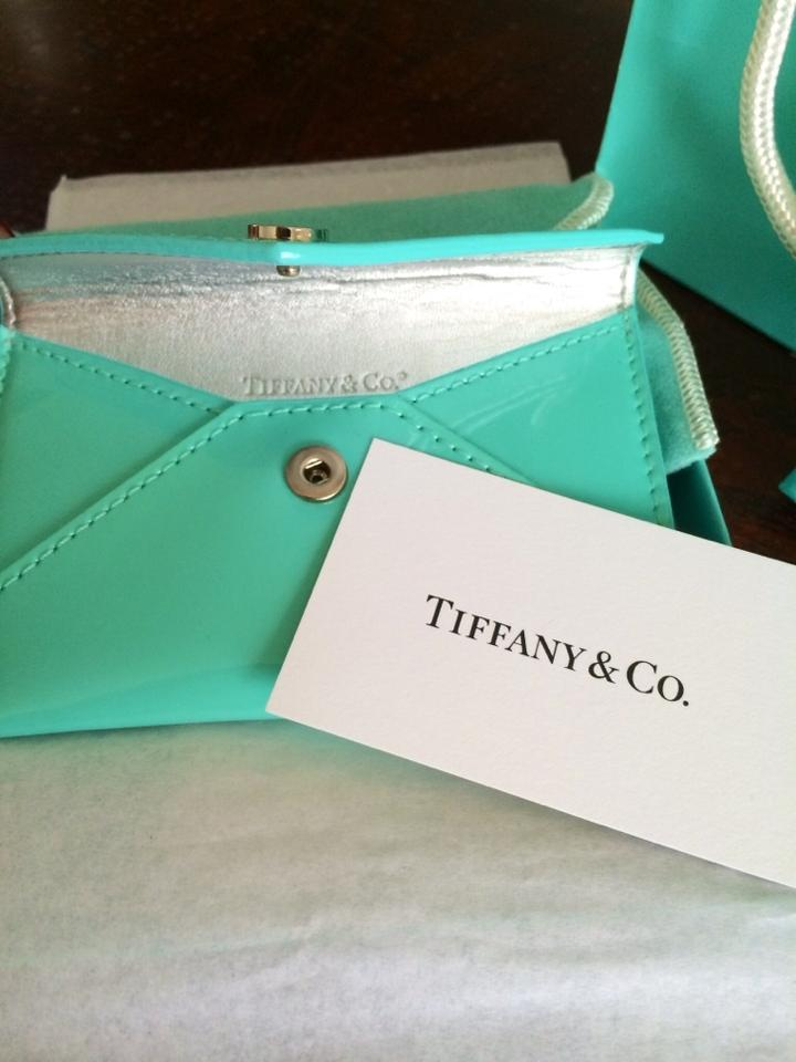 Tiffany & Co. Blue Co Leather Id Business Credit Card Holder Wallet ...