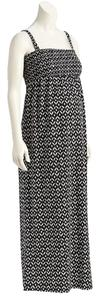 Old Navy NWT Old Navy Maternity Patterned Tube Maxi Dress Black and White Cotton Blend size XL NEW