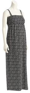 Old Navy NWT Old Navy Maternity Patterned Tube Maxi Dress Black and White Cotton Blend size XS NEW